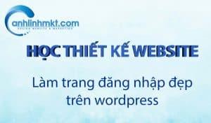 Làm trang đăng nhập đẹp trên wordpress đại diện
