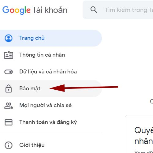 Bảo mật Google