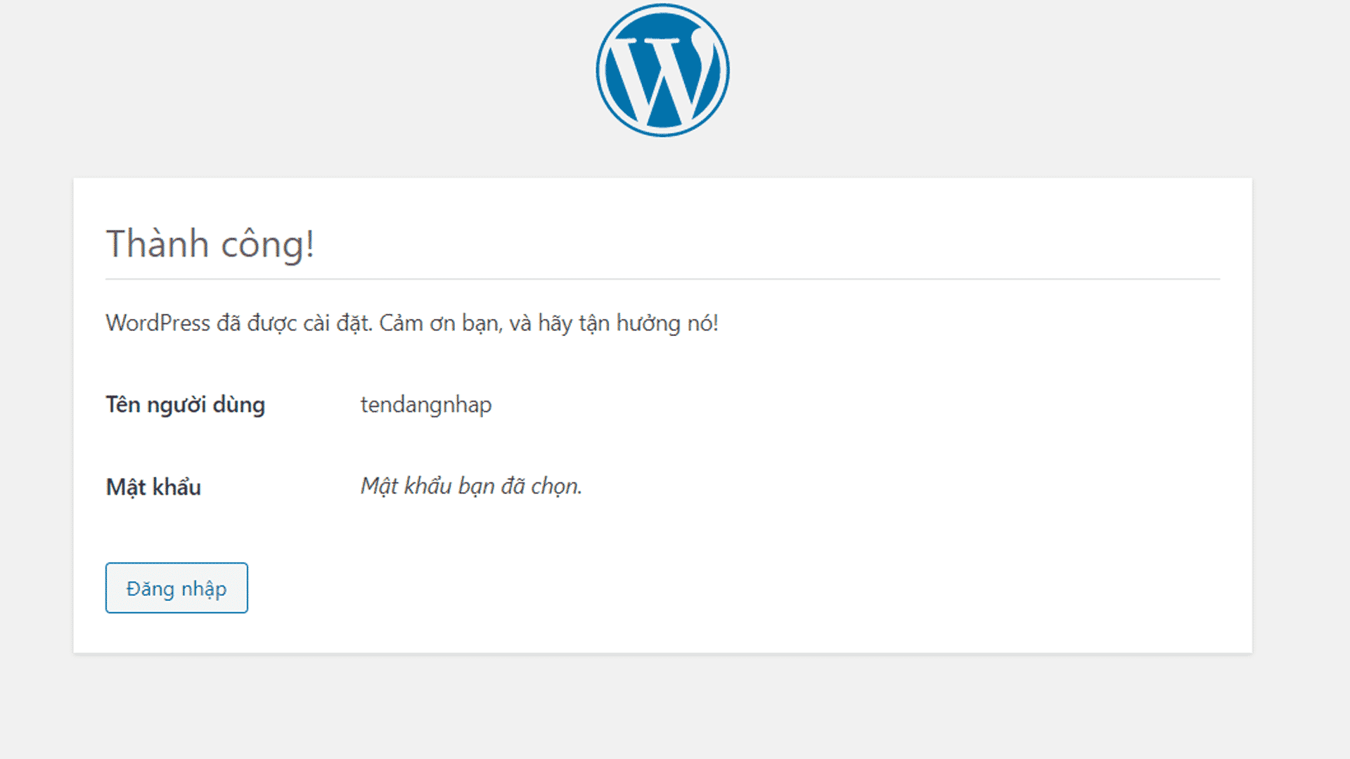Install WordPress.