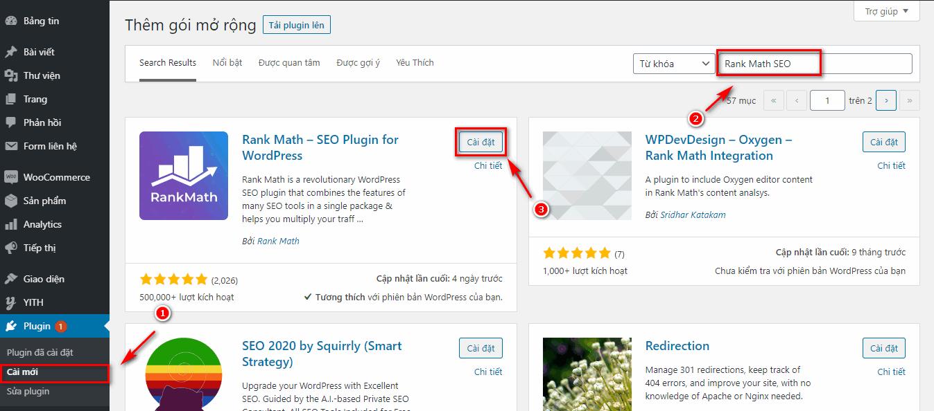 Plugin Rank Math SEO