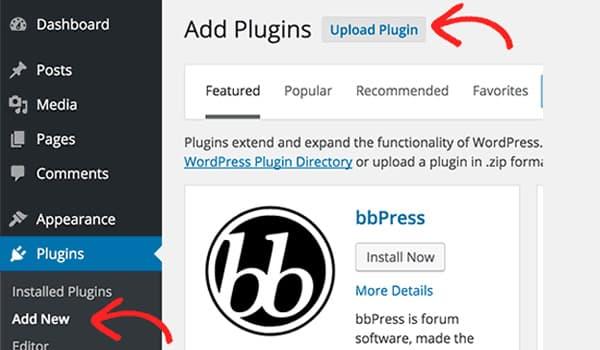 Cài đặt Plugin cho Wordpress bằng cách upload
