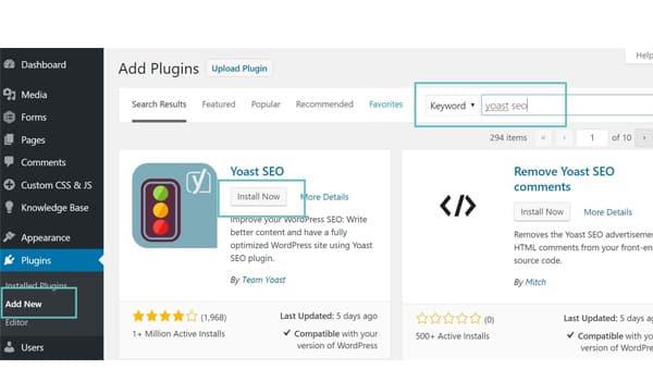 cáchcài đặt plugin WordPress
