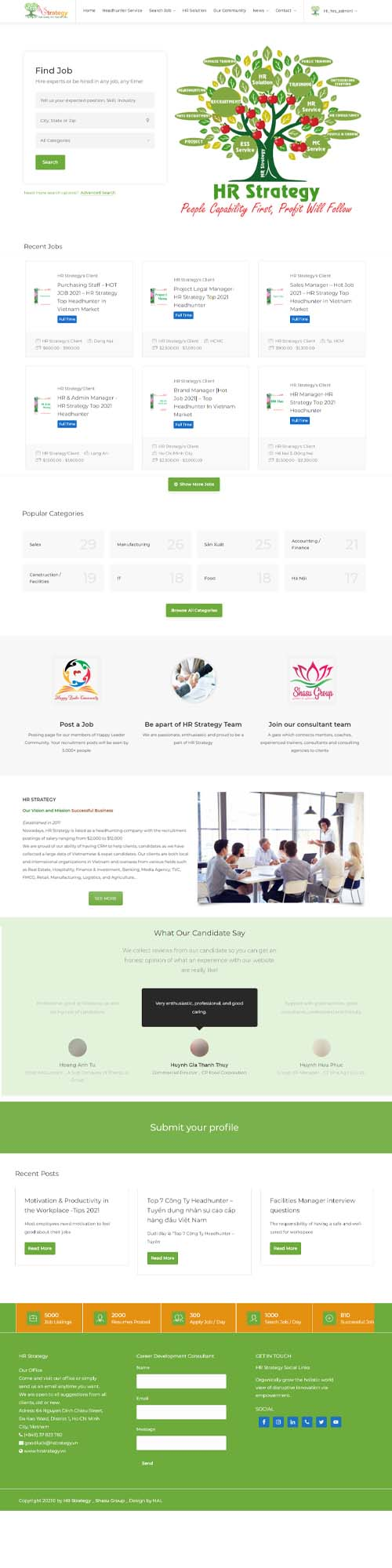 Dự án website công ty nhân sự Hr Strategy