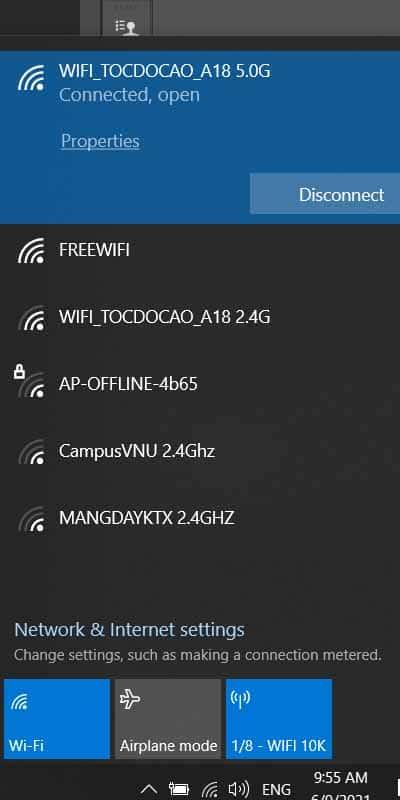 Cách phát Wifi từ Laptop Windows 10