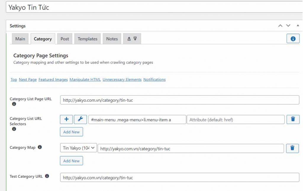 Thu thập URL của bài đăng