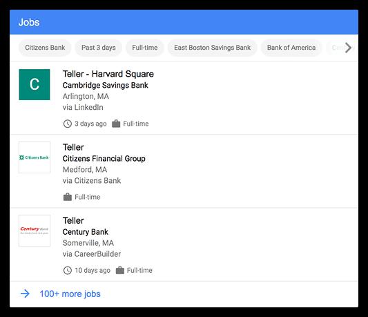 Tích hợp Tìm kiếm Việc làm của Google