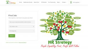 Website công ty Hr Strategy