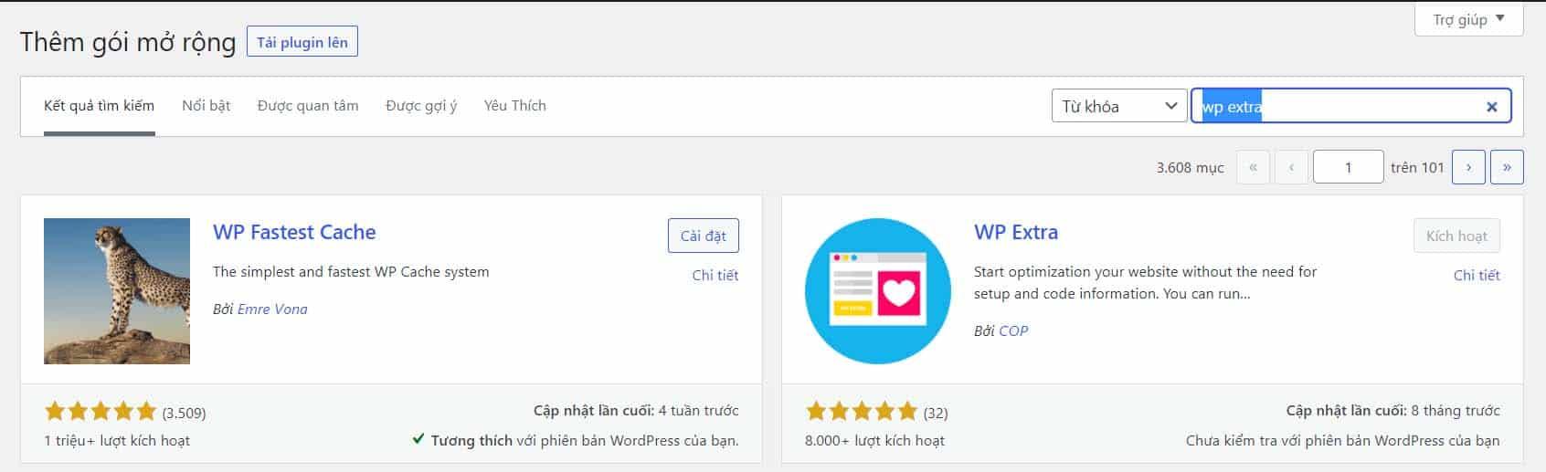 Hướng dẫn cài đặt Plugin WP Extra