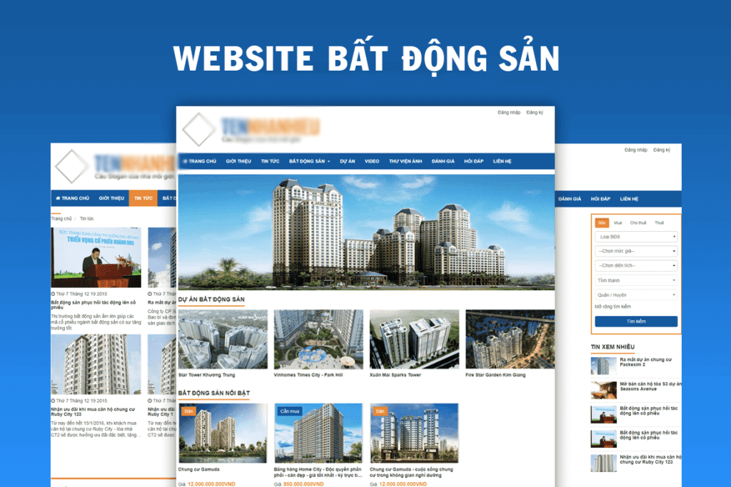 Thiết kế website bất động sản tại Phú Yên