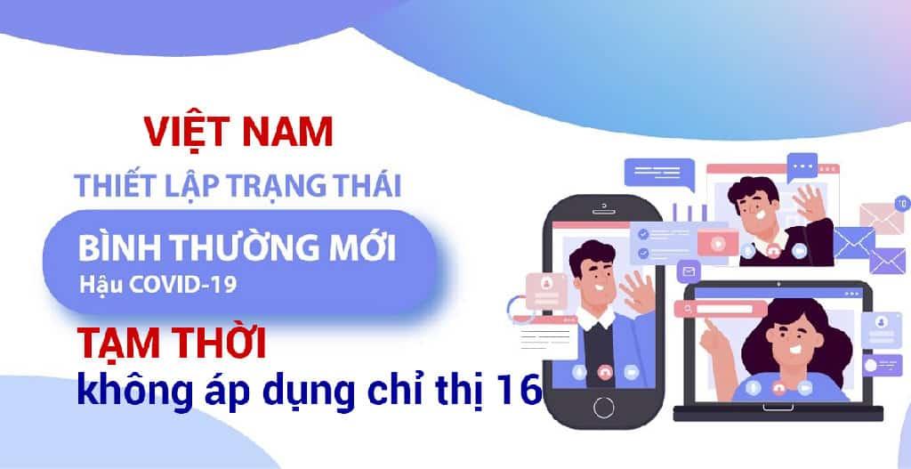 Việt Nam tạm thời không áp dụng chỉ thị 16